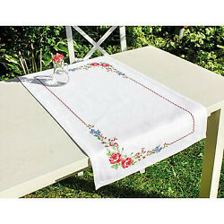Counted Cross Stitch Kit Luca-s Fm011 - Table Topper Roses - New