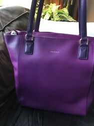 Vera Bradley Large Ella Tote Plum Genuine Leather, New With Tags, Retired