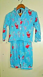 The Company Store Girls Size 8 2 Piece Flannel Pajama Set Christmas Candy Canes