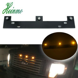 Raptor Style Front Grille Amber Led Lights W/mounting Kit For 2009-up Ford F-150