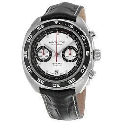 New Hamilton Pan Europ Silver Dial Leather Menand039s Watch Item No. H35756755