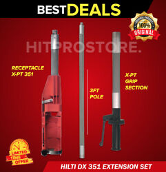 Hilti Dx 351 Extension Set X-pt 351 Grip Section 3and039 Pole Fast Ship