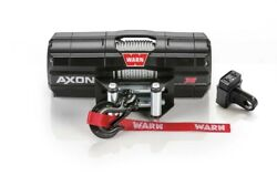 Warn 101135 Axon 35 Power Sport Winch With 3500 Lb Capacity And 50 Ft Steel Rope