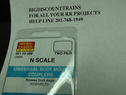 Micro-trains 001 02 009 1023 Universal Body Mount Couplers Two Pair