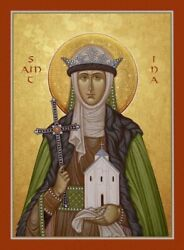 Saint Ina Of Wales Made To Order Eastern Orthodox Byzantine Icon