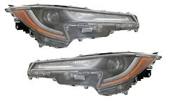Fit Toyota Corolla 2020-2021 L Le Headlights Head Light Front Lamps Pair W/bulbs