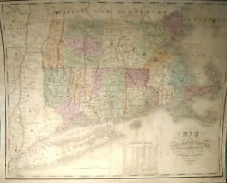 Anthony Finley Massachusetts Connecticut And Rhode Island 1825 Very Good 17x21