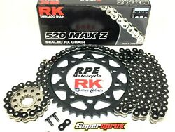 Yamaha R1 2015-2021 Rk Max Z 520 Rx-ring Black Racing Chain And Sprockets Kit