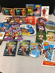 Large Lot Of Disney Advertising Pins And Buttons Video Toy Story Winnie Gordy.....