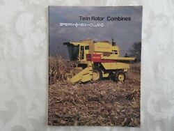 New Holland Twin Rotor Tr 75, Tr 85, Tr 95 Combines Brochure 1982 38 Page