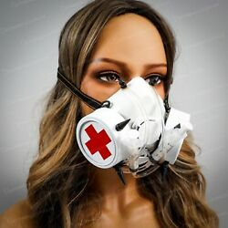 Halloween Nurse Respirator Face Mask Cosplay Steampunk Costume Masquerade Masks