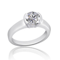 2.48 Ct Ideal Cut Round Simulated Diamond Classic Ring 14k White Gold