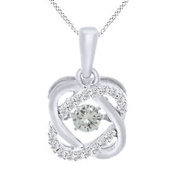 5.25ct Genuine Moissanite Sterling Silver Double Infinity Solitaire Pendant