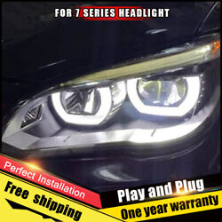 For Bmw 7 Series 740 Headlight Assembly Bi-xenon Lens Double Beam Hid Kit 09-15