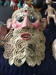 Mexico Mexican Barbones Rain Petitioning Dance Folk Art Mask Late19th/early 20th
