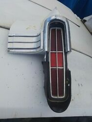 1970 Monte Carlo Original Tail Light Housing With Trim Chrome And Rubber Protector