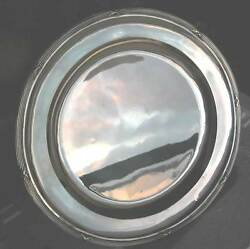 Austro Hungarian Antique Fine Solid Silver Round Tray