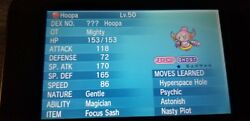 Hoopa Event Pokemon for Pokemon X Y OR AS S M amp; US UM on Nintendo 3DS $1.30