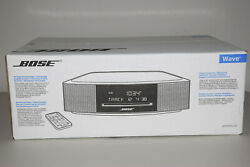 Bose Wave Iv Music System Cd Mp3 Player Am/fm Radio Tuner Silver Mint Condition.
