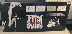 Hand Signed By All Four Who Original Band. Pro Photo Display Aftal Dealer No 113
