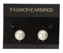Hanging Black Velour Earring Cards 300 2 1/2 X 2 J- Channel Display Card