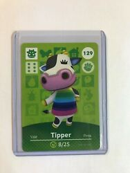 Tipper 129 Animal Crossing Amiibo Card Horizons Free Tracking, Never Scanned