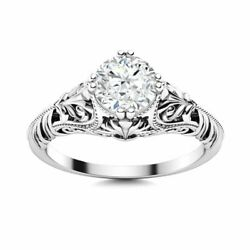 Certified Genuine Si Diamond Vintage Solitaire 14k White Gold Ring Size 5.5