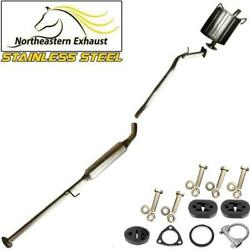 Stainless Steel Exhaust System Kit With Bolts And Hangers Fits 1997-2001 Crv