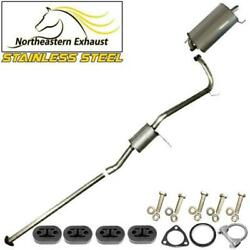 Stainless Steel Exhaust System With Hangers Bolts Fits 1998-02 Accord 2.3l Sedan