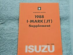 Isuzu I-mark Jt Factory Original Supplement Manual For Mid-year Changes 1988