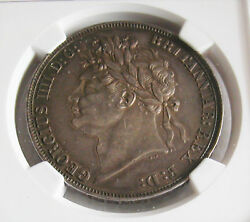G.b - George Iv -one Crown 1821 Secundo -km 680.1-certified By Ngc Au 55