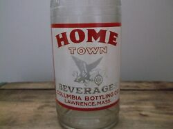 Vintage Home Town Beverages Acl Soda Bottle, Lawrence, Mass Quart