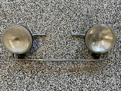 Rare Bmw R65 Bosch Driving Lights With Bracket And Harness Airhead 1979-1984