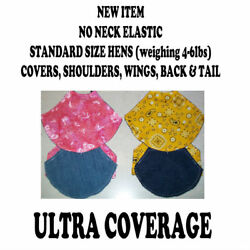 1 ULTRA DELUXE Chicken Saddle Apron Hen Jacket WING BACK SHOULDER TAIL POULTRY