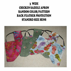 3 WIDE Chicken Saddle Apron Hen Jacket BACK FEATHER PROTECTION BACKYARD POULTR