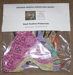 6 Chicken Saddle Apron Hen Jacket BACK FEATHER PROTECTION BACKYARD POULTRY