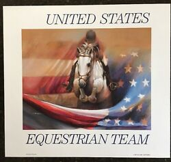 Nancy Noel Jumping For America Print - United States Equestrian Team - Closed