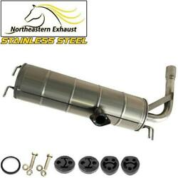 Stainless Steel Exhaust Muffler Tailpipe With Bolts And Hangers Fit 2001-05 Rav4