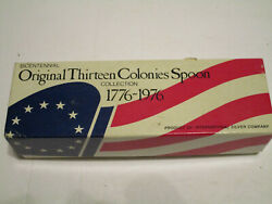 Us Bicentennial Silverware Spoon Set 13 Colonies Silver Plated New Sealed