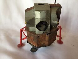 Collectible Rusty Vintage Nasa Astronaut Space Capsule Battery Operated Tin Toy