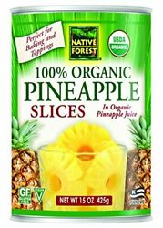Native Forest Organic Pineapple Slices, 15 Ounce Cans Pack Of 6