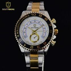 Southberg Homage Yachtmaster Quartz Watch - Gold Watch Stainless