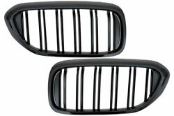 Sport Performance Front Grills / Kidneys For Bmw G30 / G31 Piano Black Gloss M5