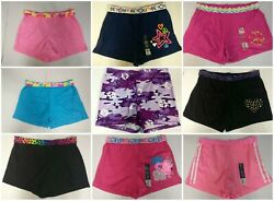 Big Girls Shorts Cotton Blend Knit Solid Graphics Waist 28-34 in. XL 14-16