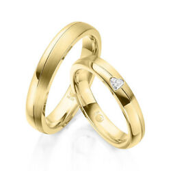 Wedding Rings - Gold 333375585 Or 750 All Colors Possible With Diamond 008ct