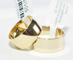 1 Pair Wedding Rings Gold 750 Yellow - Width 9mm - Strength 1,30mm - Only With
