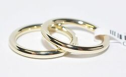 1 Pair Wedding Rings Gold 750 Polished - Width/high 3mm - Various Sizes - Top