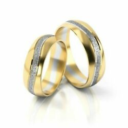 Price For One Pair Wedding Rings - Gold 333375 585750 - Bicolour - Wide