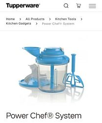 Tupperware Power Chef System Blend, Mix, Chop And Whip