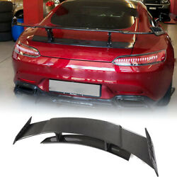 Rear Trunk Spoiler Wing Fit For Mercedes Benz Amg Gt Coupe 15-18 Carbon Fiber
